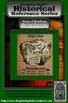 Grinning Skull's Historical Reference series: 1920 Modern Homes Layout Plans