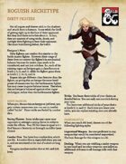 Rogue Archetype: Dirty Fighter
