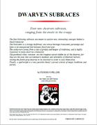 Dwarven Subraces: 4 new options for your dwarf PC