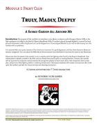 Truly, Madly, Deeply-Module 01