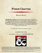 Poison Crafting:  Revised Rules