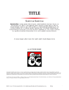 Adventure Template for Scribus 1.5.1