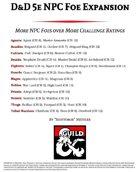 D&D 5e NPC Foe Expansion