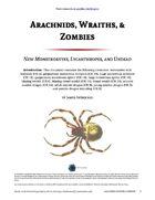 Arachnids, Wraiths, & Zombies - World Builder Blog Presents