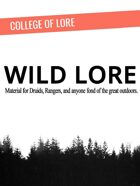 College of Lore - Wild Lore