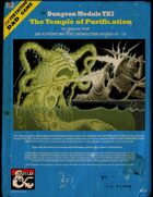 Dungeon Module TH3: The Temple of Purification