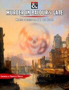"""Murder in Baldur's Gate"" Monster Stats for D&D 5E"