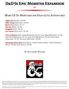 D&D 5e Epic Monster Expansion