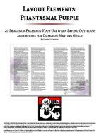 Layout Elements: Phantasmal Purple