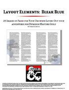 Layout Elements: Bleak Blue