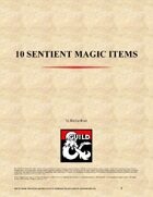 10 Sentient Magic Items - Volume I
