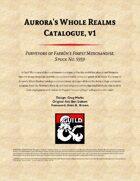 Aurora's Whole Realms Catalogue, vol 1