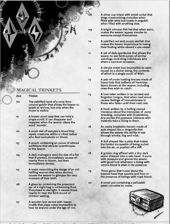 20 Magical Trinkets