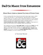 D&D 5e Magic Item Expansion