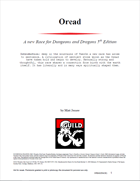 The Oread - A New Race