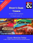 Classic Modules Today: B10 Night's Dark Terror 5e