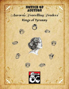 Aurora's Travelling Traders - Notice of Auction: Rings of Tyranny
