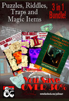 3 in 1 Puzzles, Traps and Magic Items Pack