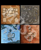DMs Guild Creator Resource - Free Dungeon Maps / Map Pack 2