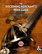 Discerning Merchant's Price Guide