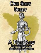 A Fair Row, a One Shot Sheet Adventure