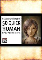 50 Quick Human NPCs