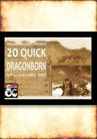20 Quick Dragonborn NPCs
