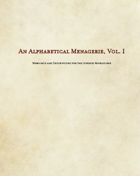 An Alphabetical Menagerie, Vol. I (Sample)