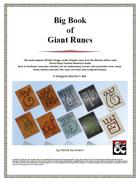 Big Book of Giant Runes