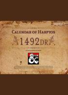 Calendar of Harptos - 1492 DR (Full Color edition)