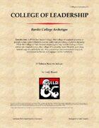 Bardic College: College of Leadership