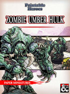 Zombie Umber Hulk Paper Miniature