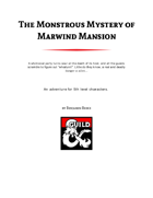 The Monstrous Mystery of Marwind Mansion