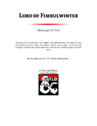 Lord of Fimbulwinter
