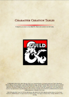 Character Creation Tables