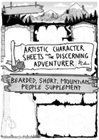 Artistic Character Sheet for the Discerning Adventurer (Dwarven pg.2)