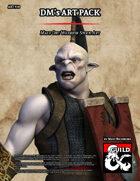 ART910 Male Orc Warrior Stock Art
