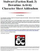 Stalwart (Faction Rank 3) Downtime Activity Character Sheet Addendum