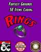 Fantasy Grounds 5E Items Effects Coding - Rings
