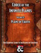 Codex of the Infinite Planes Vol 03 Plane of Earth