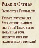 5e Paladin Oath - Oath of the Thunderous