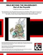 WBtW03: Wild Beyond the Wilderlight - Out of the Feywild