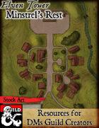 Elven Tower - Minstrel's Rest | Stock City Map