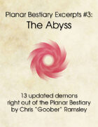 Planar Bestiary Excerpts #3: The Abyss