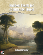 Random Events for Countryside Travel
