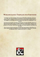 Scrivener Template for D&D 5e