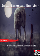Animal Companion - Dire Wolf