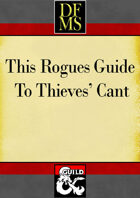 This Rogues Guide to Thieves' Cant