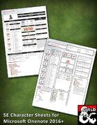 5E Onenote Character Sheets
