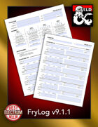 FryLog Season 9 Log Sheet